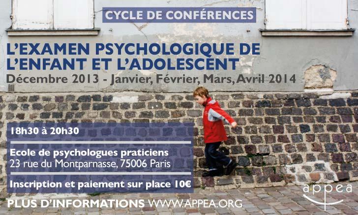 Colloque Diagnostic et Pronostic dans le bilan psychologique avec l'enfant et l'adolescent